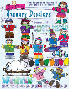 January Doodlers Clip Art Download