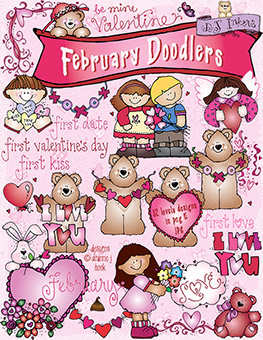 February Doodlers Clip Art Download