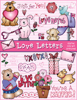 Love Letters Clip Art Download