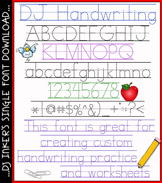 A Font For Practicing Handwriting By DJ Inkers