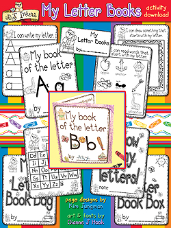 My Letter Books - Alphabet Learning Printables Download