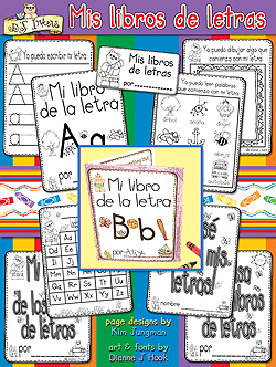 Mis Libros De Letras Spanish Printables Download