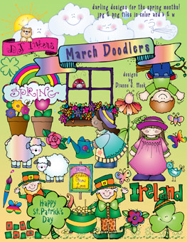 March Doodlers Clip Art Download