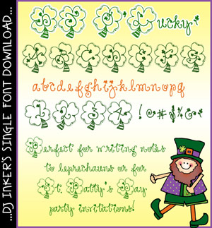 DJ O'Lucky Font Download