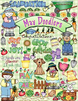 May Doodlers Clip Art Download