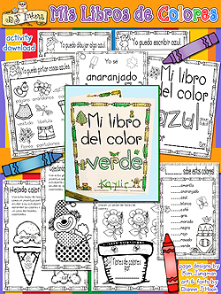 Mis Libros De Colores - Spanish Colors Learning Printables