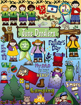 June Doodlers Clip Art Download