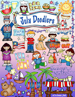 July Doodlers Clip Art Download