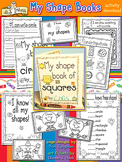 My Shape Books Learning Printables