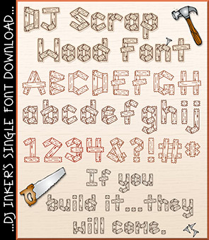 DJ Scrap Wood Font Download