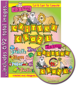 Critter Craze Animal Clip Art CD