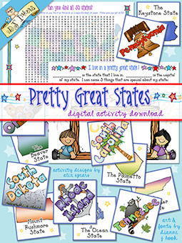 Pretty Great States Activity Download