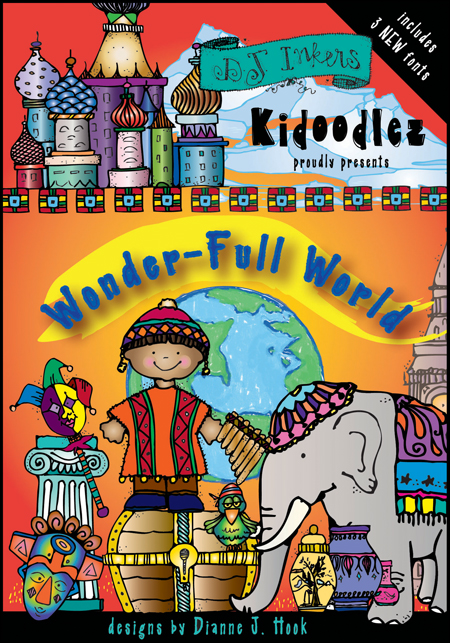 Clip art for world studies, travel, culture & diversity around the world - DJ Inkers CD