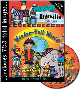 Kidoodlez Wonder-full World Clip Art CD