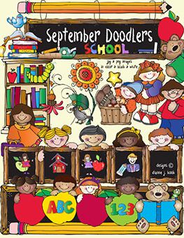 September Doodlers Clip Art Download