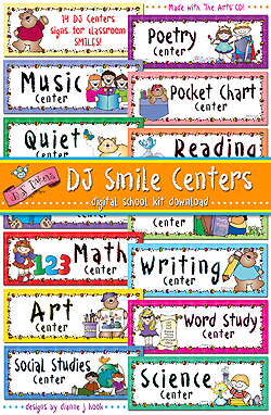 DJ Smile Centers Printables Download