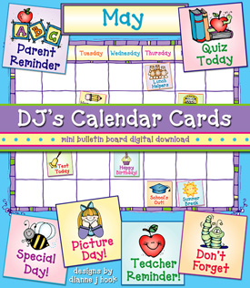 Calendar Cards Printables Download