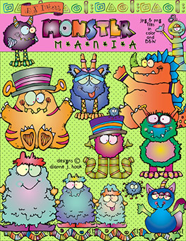 Monster Mania Clip Art Download