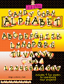 Candy Corn Clip Art Alphabet Download