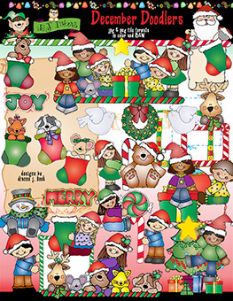 December Doodlers Clip Art Download