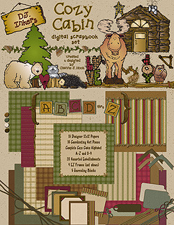 Cozy Cabin Scrapbook Download