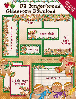 Gingerbread Classroom Kit Download