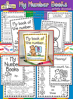 My Number Books Learning Printables