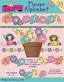 Flower Clip Art Alphabet Download