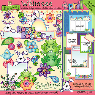 April Whimzee Clip Art, Borders and Fun Download