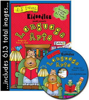 Kidoodlez Language Arts Clip Art CD