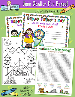 June Doodler Fun Pages Download