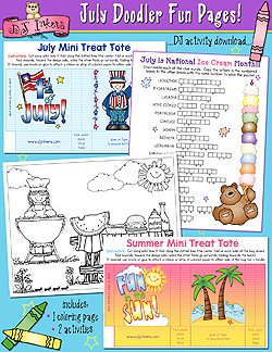 July Doodler Fun Pages Download