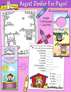 August Doodler Fun Pages Download