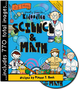 Kidoodlez Science and Math Clip Art CD