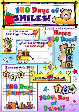 100 Days Of Smiles Activity Download