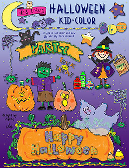 Halloween Kid Color Clip Art Download