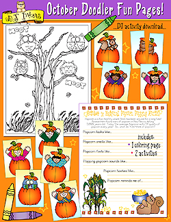 October Doodler Fun Pages Download