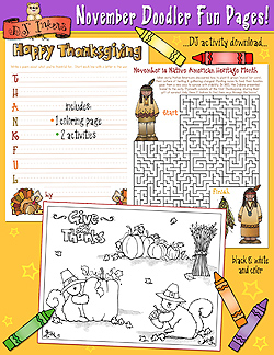 November Doodler Fun Pages Download