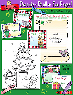 December Doodler Fun Pages