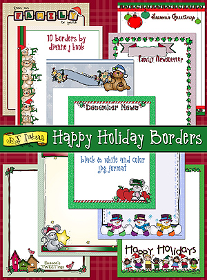 Happy Holiday Borders Clip Art Download