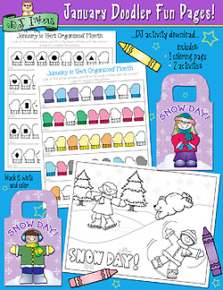 January Doodler Fun Pages Download