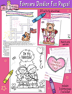 February Doodler Fun Pages Download