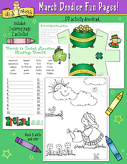 March Doodler Fun Pages Download