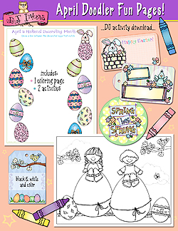April Doodler Fun Pages Download