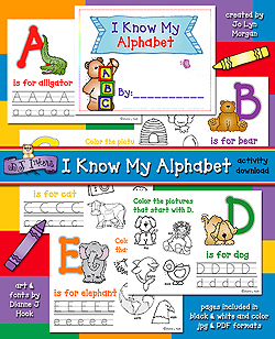 I Know My Alphabet Activity Download
