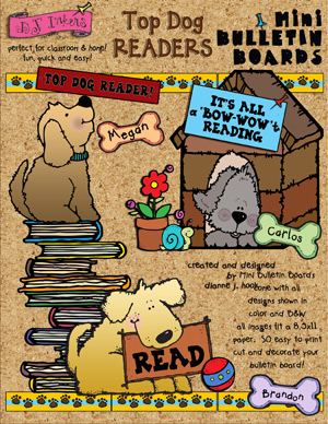 Top Dog Readers Printable Bulletin Board