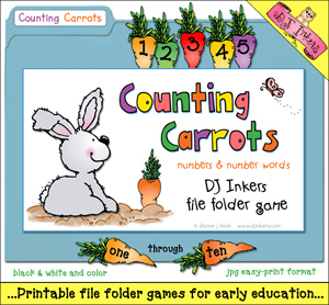 Counting Carrots File Folder Game Download