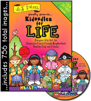 Kidoodlez For Life Clip Art CD