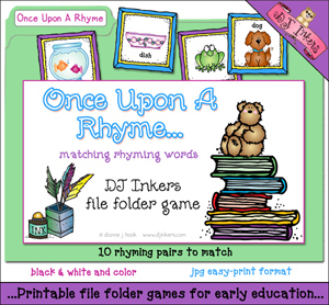 Once Upon A Rhyme File Folder Game Download