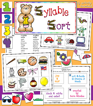 Syllable Sort Activity Download